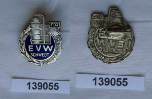 DDR FDJ Abzeichen Bau des Jugend Erdölverarbeitungswerk EVW Schwedt (139055)