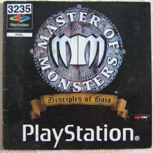 Spielanleitung Masters of Monsters mm Playstation Booklet
