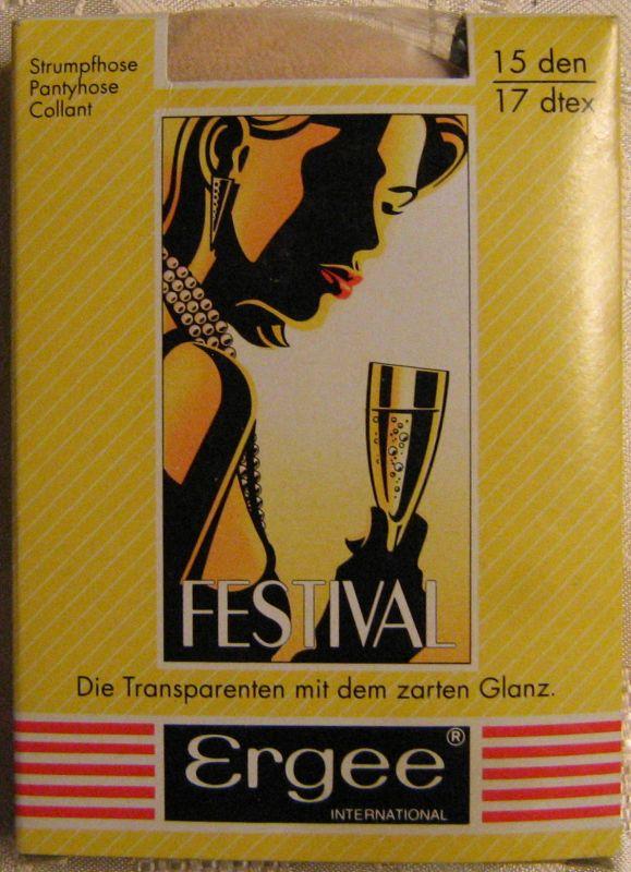 True Vintage Damen Strumpfhose ERGEE Größe L44-48 Teint