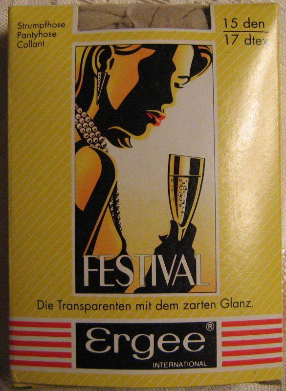 True Vintage Damen Strumpfhose ERGEE Größe L44-48 Sand