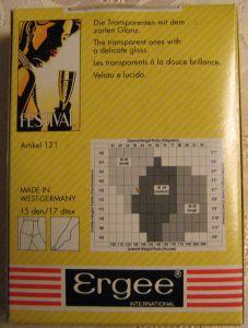 True Vintage Damen Strumpfhose ERGEE Größe L44-48 Sand 1