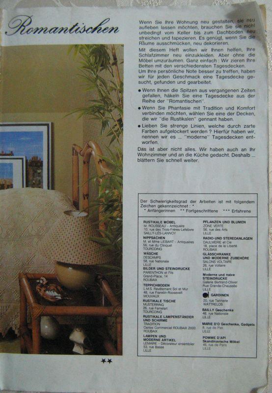 True Vintage Handarbeitsanleitungen PHILDAR Nr. 3 Gardinen Tagesdecken