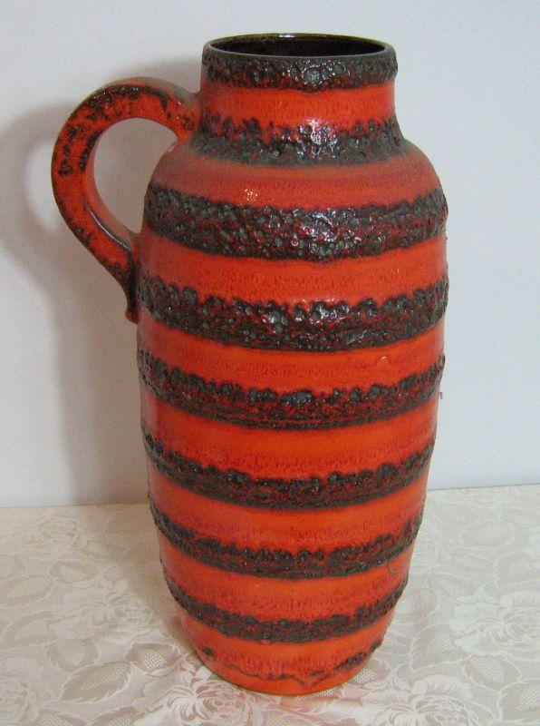 Scheurich Vintage Boden Vase Keramik Krug Erbstück Riesig
