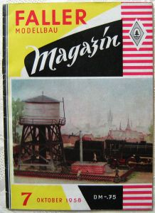 FALLER Modellbau Magazin 7 1958 Fotos Skizzen Texte Nostalgie Rar Sammlerstück