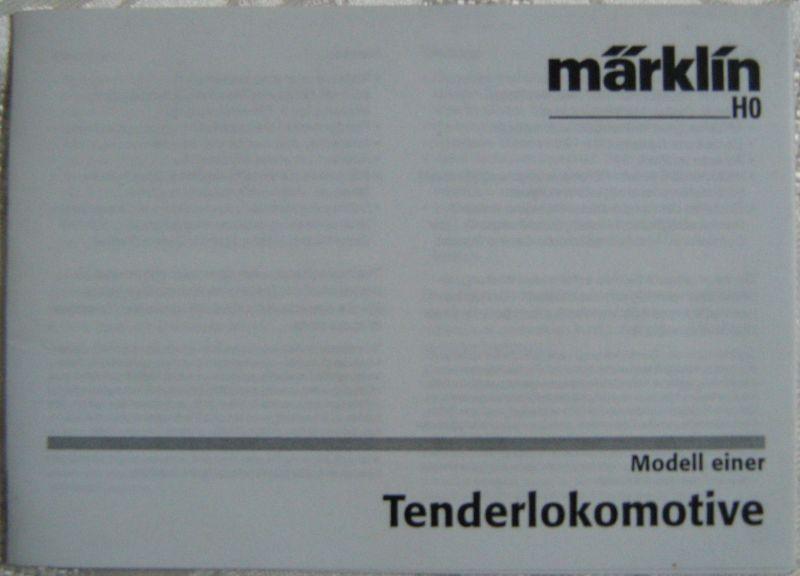 Märklin H0 Waschzettel Tenderlokomotive 2005 Anleitung
