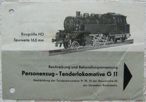 GÜTZOLD H0 Behandlungsanweisung G 11 Personenzug Tenderlok Waschzettel DDR