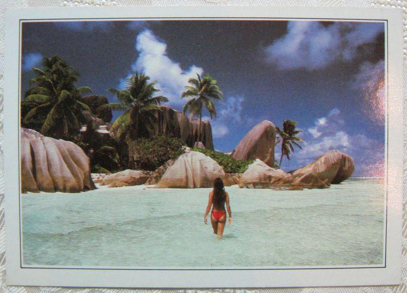 Karte Foto Seychellen Königsbucht
