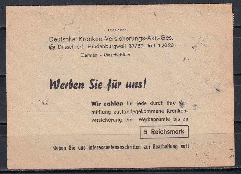 Bizone Währungsreform Falt-Brief von Düsseldorf/23.6.48 mit MiF alte Währung MiNo. 957+4x959 portorichtig als 10-Fach-Frankatur (80.-)