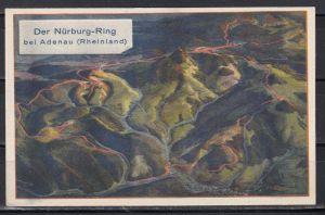 Frz.Zone/Rheinland-Pfalz SSt Der Nürburg-Ring Adenau/17.8.47/Gebirgs-Auto-Strasse auf gleicher Color-Sonderkarte mit 2x 5v