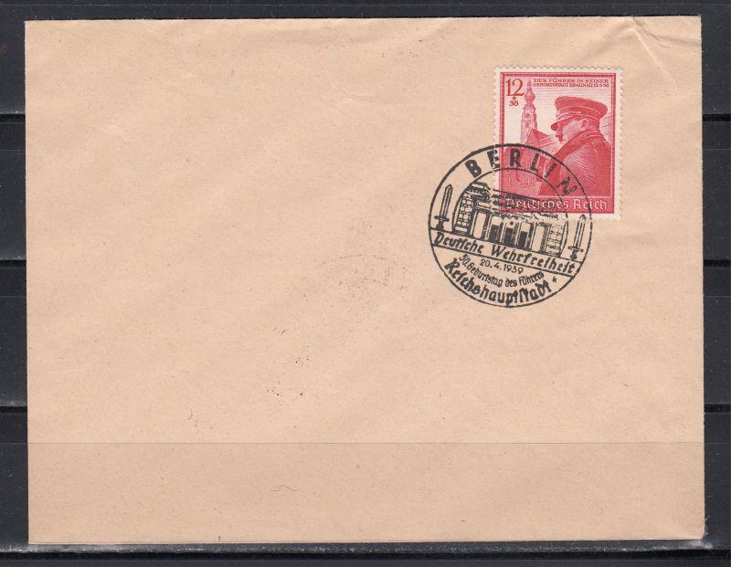 Dt.Reich MiNo. 691 auf Blankoumschlag mit SSt Berlin/20.4.1939/Reichshauptstadt...
