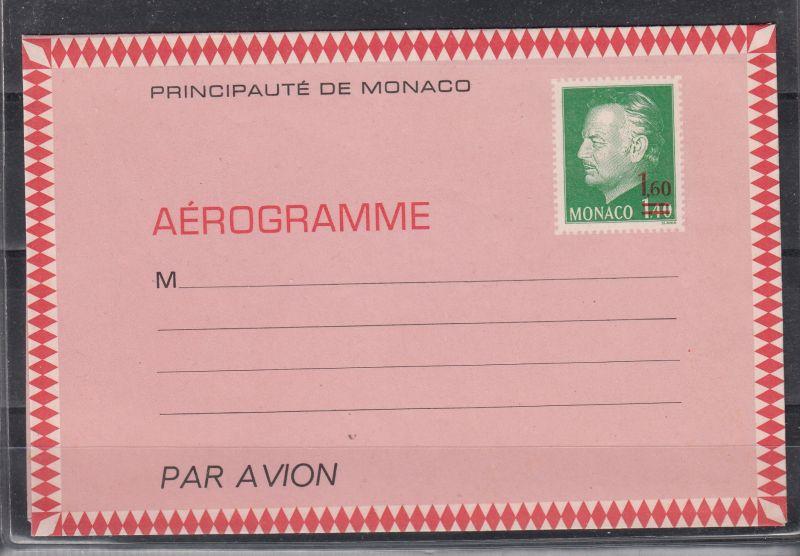 Monaco Aerogramm MiNo. LF 3 ** (10.-)