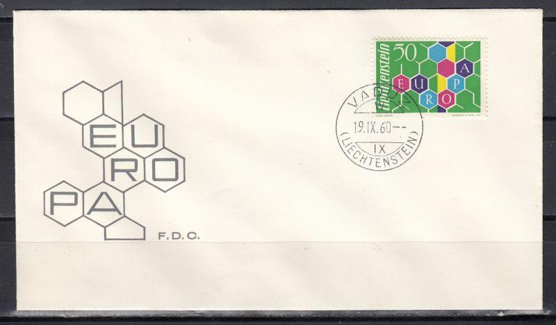 Liechtenstein 1960 CEPT-Ausgabe MiNo. 398 FDC (40.-)