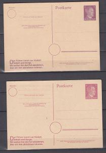 Dt.Reich Ganzsachenkarten MiNo. P 312/08,P313IIb,P314IIa+b **