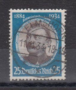 Dt.Reich MiNo. 543 Rund-o Höchstwert aus dem Satz Kolonialforscher (26.-)