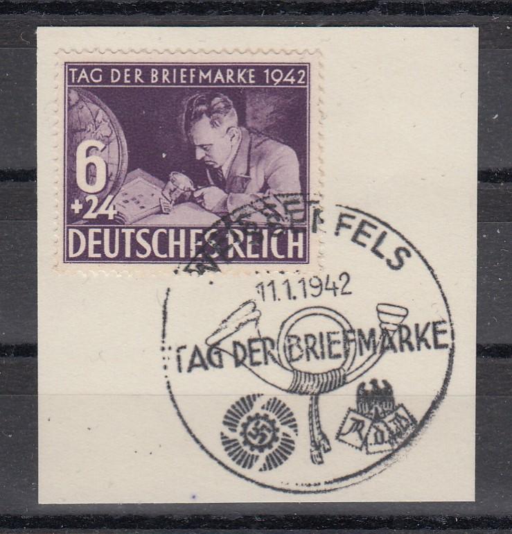 Dt.Reich MiNo. 811 Briefstück mit SSt Weissenfels vom 1.Tag