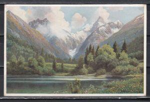 Dt.Reich Werbekarte Edelweiß-Milch mit rotem Postfreistempel \
