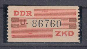 DDR Dienst ZKD MiNo. VIII ** Kennbuchstabe U (70.-)