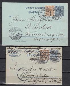 Dt.Reich Ganzsachen MiNo. P 40I ZuF 45ca und P 40IIBa ZuF 45e je gpr BPP , Bedarfsstücke (40.-)