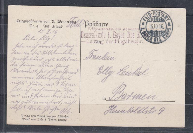 Dt.Reich Kriegspostkarte  von B.Wennerberb Nr 4 \