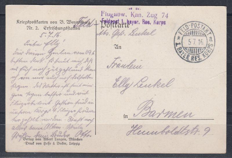 Dt.Reich I.WK Kriegspostkarte von B.Wennerberg Nr. 2 \
