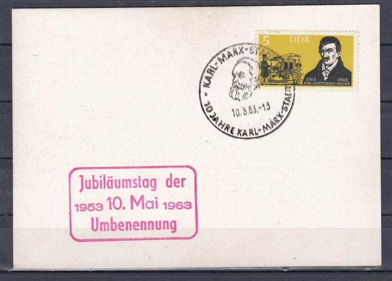 DDR 1953 - 1963 Sonderkarte \