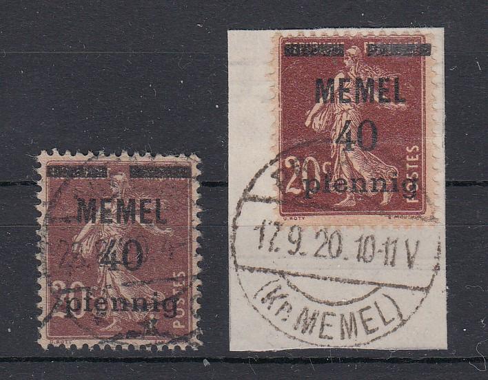 Memelgebiet MiNo. 22a und 22b Rund-o (24,50)