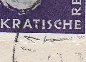 DDR 637 Plattenfehler II : Punkt in C von Demokratische u.a. als R-Satzbrief Magdeburg 11.7.58 = 1.Tag ( Brief 400.-)