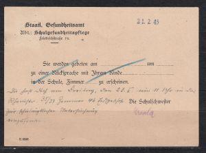 Dt.Reich Dienstpostkarte \