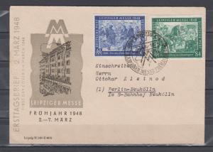 Alliierte Besatzung Kontrollrat MiNo. 967/68 auf illustriertem FDC