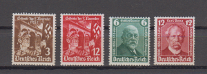 Dt.Reich MiNo. 598/99 ** und 604/05** (34.-)