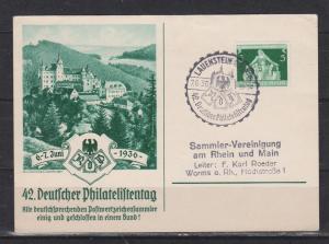 Dt.Reich 1936 Sonderkarte \\\