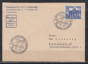 Dt.Reich MiNo. 803 auf Fernbrief mit SSt Hoppegarten(bBerlin)14.9.41/Grosser Preis der Reichshauptstadt