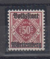 Dt.Sttaaten Württemberg MiNo. 143a ** gpr Winkler BPP