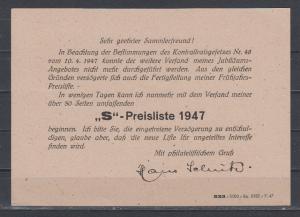 Kontrollrat Ganzsache MiNo. P 965 mit privatem Zudruck o Leipzig 2.8.47