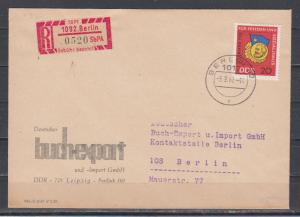 DDR Einschreibemarke 1092 Berlin in MiF mit 1167 auf Brief 1967 \