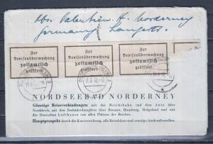 Dt.Reich MiNo.522 auf illustriertem Faltbrief \