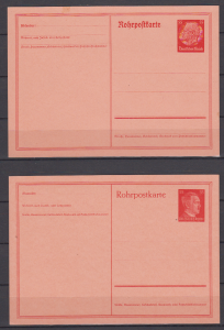 Dt.Reich Rohrpostkarten MiNo. RP 25 ** und RP 26 ** (45.-)