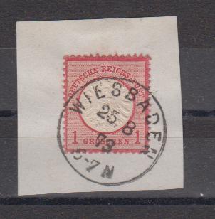 Dt.Reich Briefstück MiNo. 19 o K1 Wiesbaden 25.8.73
