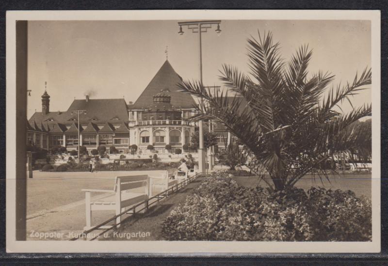 Danzig Fotokarte Zoppot Kurhaus u.Kurgarten mit 1x MiNo. 259 ab Zoppot 24.8.36 nach Braunschweig