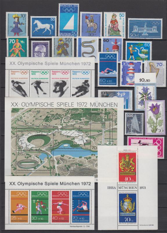 Bund gut bestückte postfrische Sammlung aus 1960 bis 1980 ** die Bilder zeigen immer die Höchstwerte aus den Sätzen.Dazu haben wir die erste und die letzte Seite komplett abgebildet.