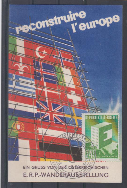 Österreich 1959 Privatganzsache ERP-Wanderausstellung mit Sonder-RZ und SSt Wien Briefmarkenausstellung