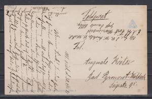 Dt.Reich 1915 patriotische Karte Stettin/SMS Stettin als Feldpost I.WK