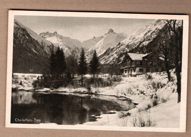 Alte Ansichtskarte/AK/Postkarte: Winter im Allgäu, Christlessee, 906 m, bei Oberstdorf