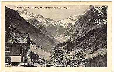 Alte Ansichtskarte/AK/Postkarte: Spielmannsau, 1074 m, Bei Oberstdorf im bayer. Allgäu