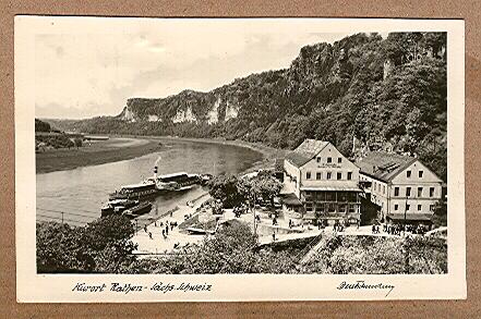 Alte Ansichtskarte/AK/Postkarte: - Sächs. Schweiz Kurort Rathen