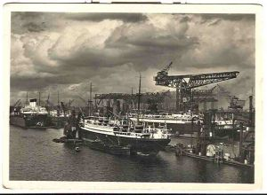 Alte Ansichtskarte/AK/Postkarte: Hamburg - Kuhwärder Hafen