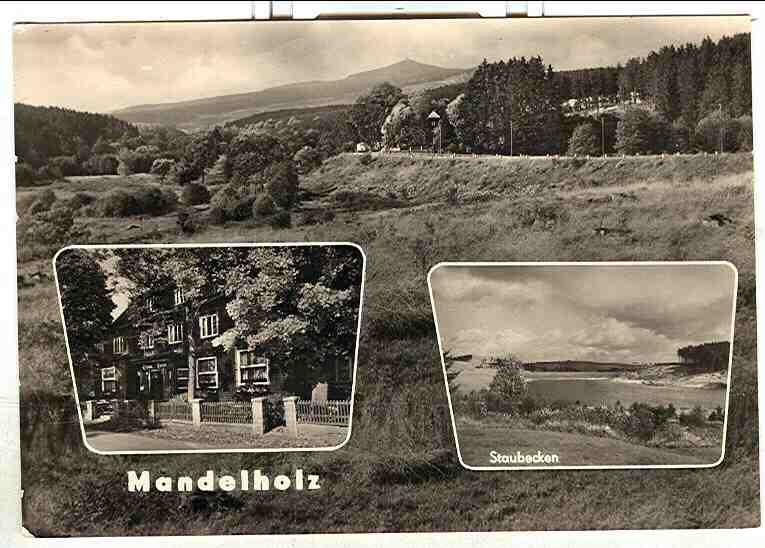 "Alte Ansichtskarte/AK/Postkarte: Mandelholz / Harz - Gaststätte ""Grüne Tanne"""