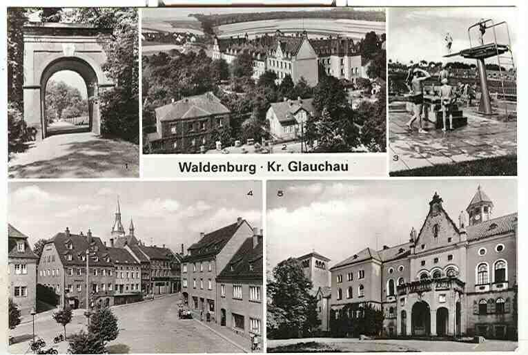 Alte Ansichtskarte/AK/Postkarte: Waldenburg Kr. Glauchau