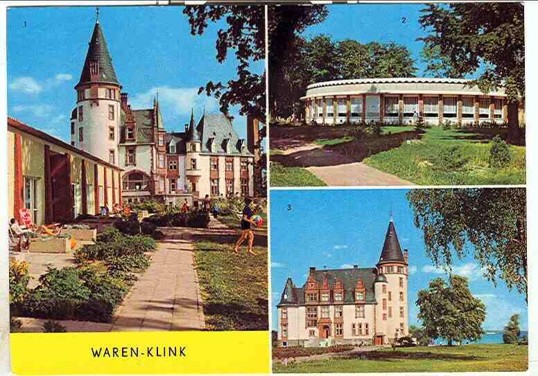 """Alte Ansichtskarte/AK/Postkarte: """"Waren - Klink"""" an der Müritz"""