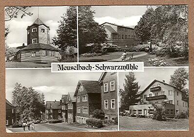 Alte Ansichtskarte/AK/Postkarte: Meuselbach-Schwarzmühle